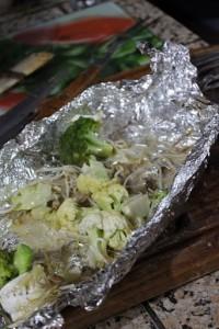 Cogumelos na manteiga com legumes
