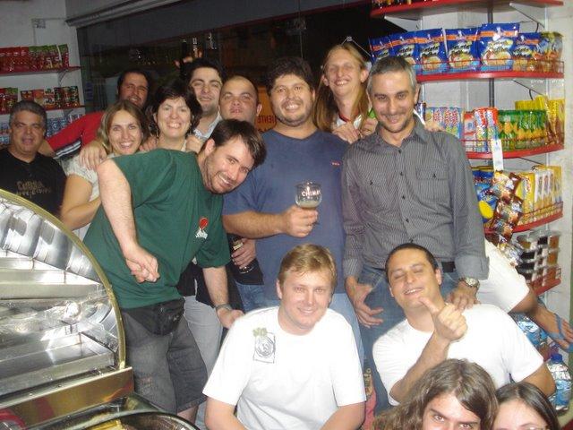Padoca cheia prestigiando a visita do Mauro Nogueira