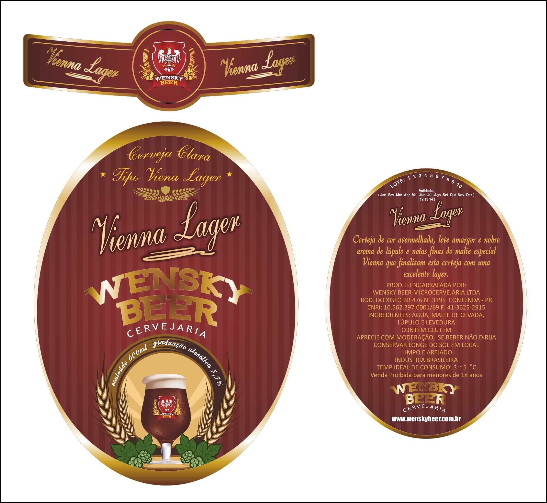 Wensky Beer - Rótulo Viena