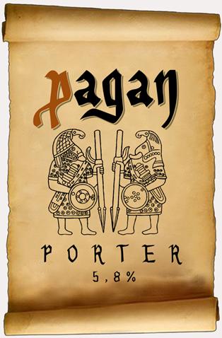 Rótulo da nova Pagan Porter