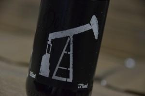 Detalhe do rótulo da Petroleum