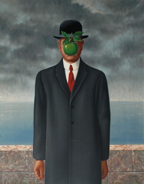 Quadro Le fils de homme de Rene Magritte